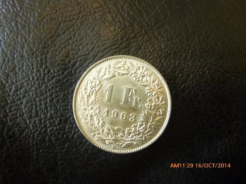 moneda suiza 1 franco 1963 plata 0.825 (1050z