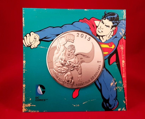moneda superman plata   *envío gratis*