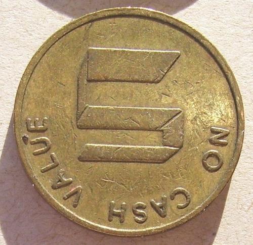 moneda token ficha usa no cash value 5 s e 181