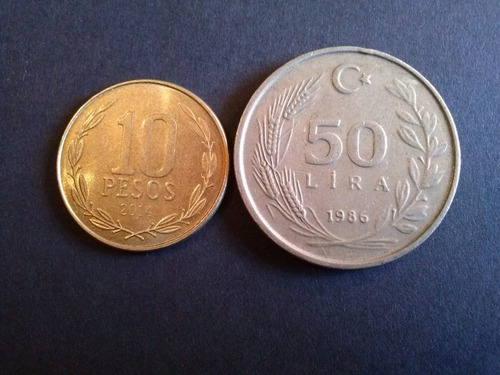 moneda turquia 50 liras 1989 niquel (c25)