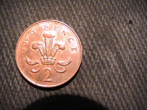 moneda two pence gran bretaña 2001