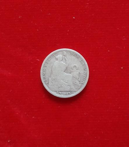 moneda un dino 9 decimos finos peru 1903