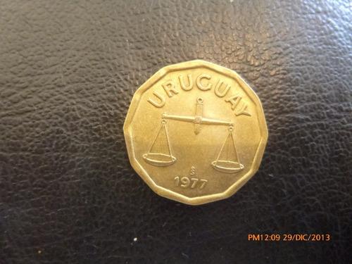 moneda uruguay 50 centesimos 1977  ceca chile (281z