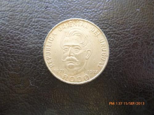 moneda uruguay 50 pesos 1971 rodo (288z