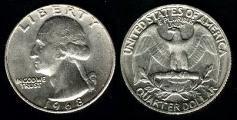 moneda usa quarter dollar 25 centavos