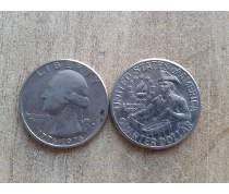 moneda usa quarter dollar bicentenario 25 centavos