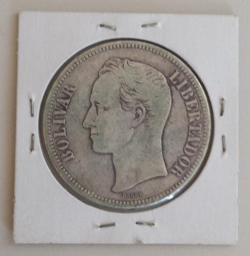 moneda venezuela 5 bolívares 1903 plata f/vf