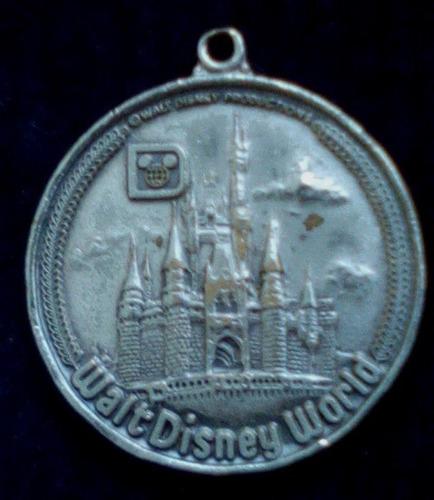 moneda walt disney world blanco medalla de bronce llavero