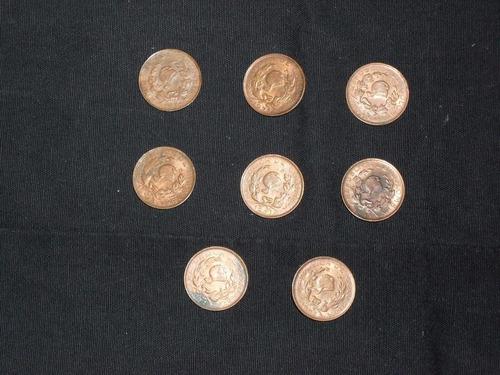 monedas 1 centavo colombia 1967-1969-1971