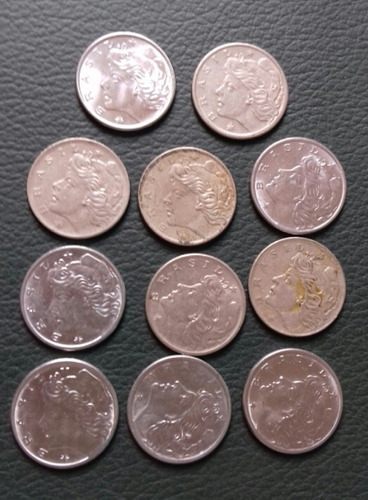 monedas 10 centavos brasil 1967
