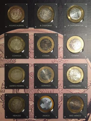 monedas 100 pesos de los estados 2a emision