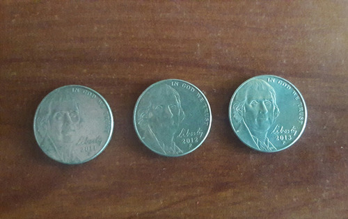 monedas 5 cents años consecutivos.