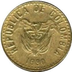 monedas 5 pesos colombia 1989-1990-1993