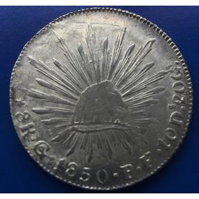 485428b01e55 Moneda 8 Reales 1850 P F Guanajuato Plata Muy Escasa