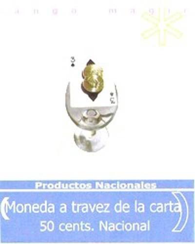 monedas a través de la carta 50 cents magia / alberico magic
