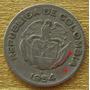Moneda Colombia 10 Centavos Error Die Crack Calarca 1954 B