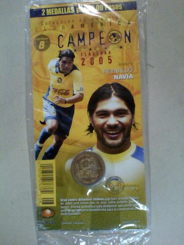 monedas  america campeon 2005 a. argueyo y reynaldo navia