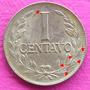 Moneda Colombia 1 Centavo Error Die Crack 1954 B