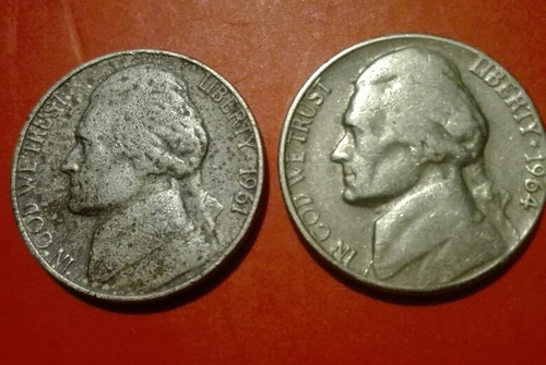 monedas americanas 5 centavos