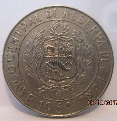 monedas antiguas de 10 soles de oro - 1969