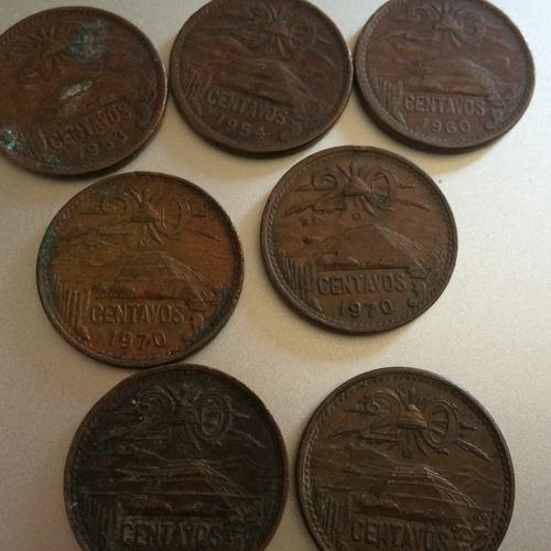 monedas antiguas de 20 centavos cobre mexicanas lote!!!