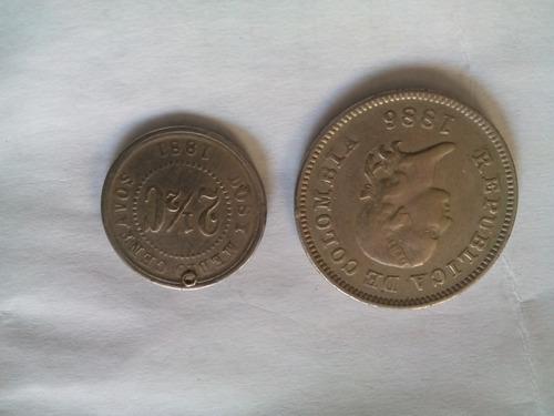 monedas antiguas de coleccion de 1886  1881 para coleccionis