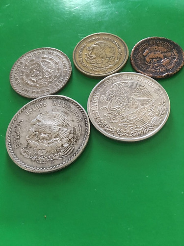 monedas.  antiguas. mexicanas