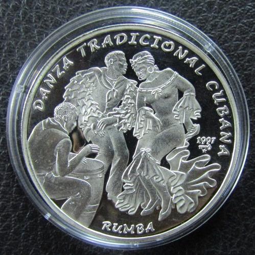 monedas antiguas rumba cubana 1997 27 gramos de plata
