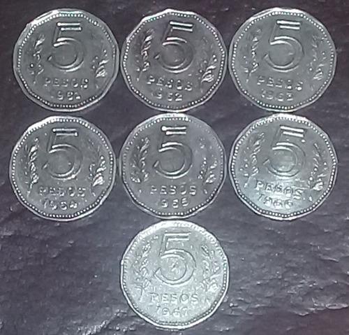 monedas argentinas 5 pesos fragata