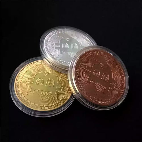 monedas bitcoin de colección,  40 mm