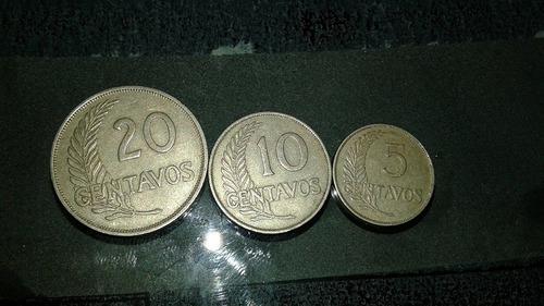 ¡monedas, centavos plateados, fecha con letras años 30 y 40!