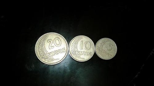 monedas, centavos plateados, fecha con letras años 30s y 40s