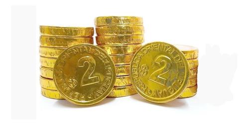 monedas chocolate $2 bolsa x125u