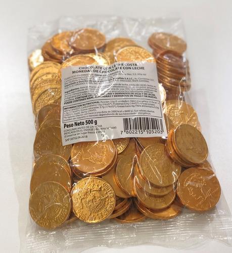 monedas chocolate bonafide x 500 gr para envio - oferta!