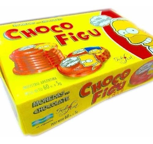 monedas chocolate choco figu x60un - oferta la golosineria