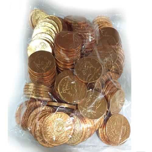 monedas chocolate dollar 110un aprox (500gr)  la golosineria