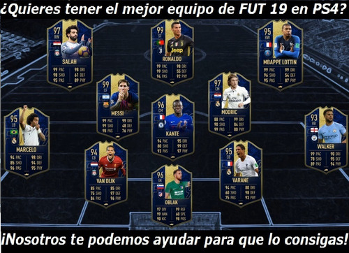 monedas coins fifa 19 ultimate team fut ps4
