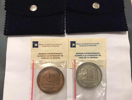 monedas conmemorativas casa moneda maracay plata y bronce
