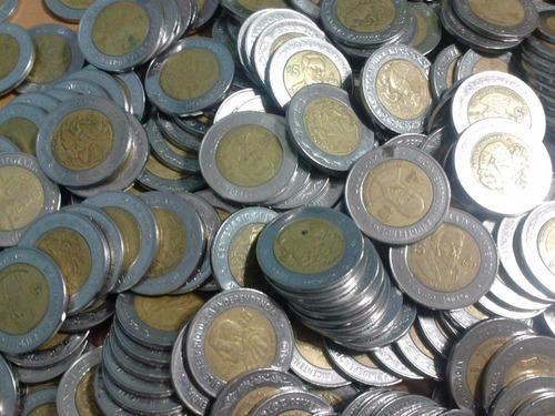 monedas conmemorativas de 5 pesos independencia revolución