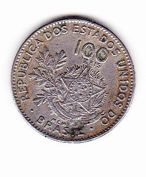 monedas de 100 reales brasil 1901