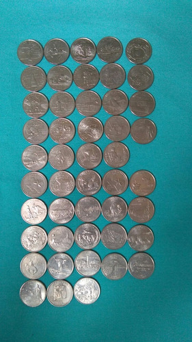 monedas de 25 centavos parque y estados
