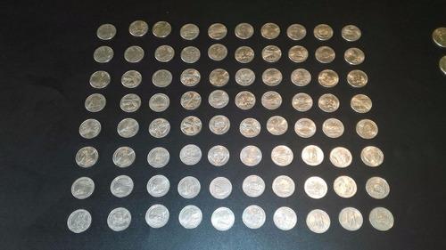 monedas de 25 de los estados y parques y 50 ctvs americanas