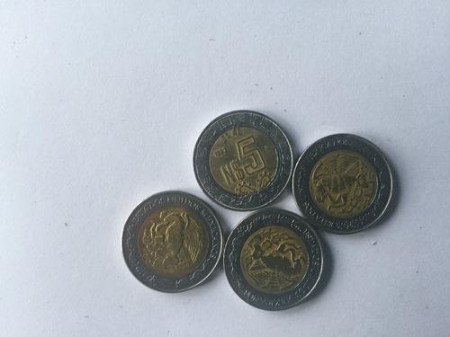 monedas de 5 nuevos pesos 1992
