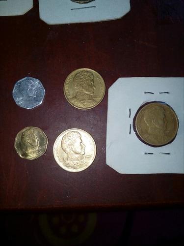 monedas de chile de 10, 5 y 1 peso de colección