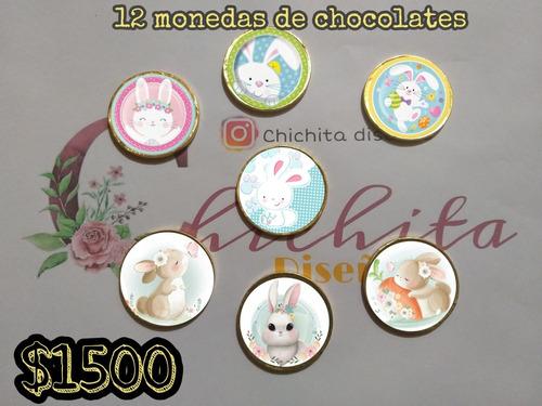 monedas de chocolates