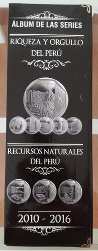 monedas de coleccion- album tipo triptico - 40 monedas
