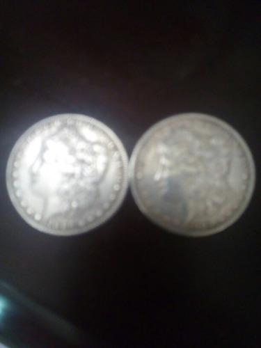 monedas de dollar americanas de plata una de 1886 y 1903