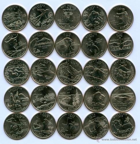 monedas de eeuu cuartos de dolar  a elección  (n c)