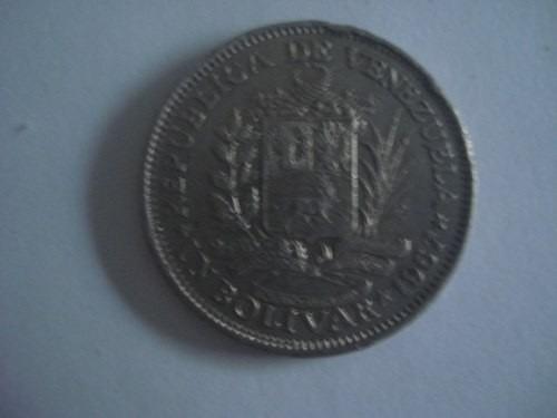 monedas de niquel, 1 bs, 1967...