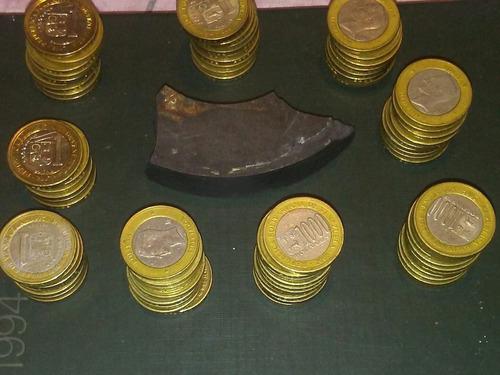 monedas de niquel 1 bs 2 bs 5 bs 1967-1990